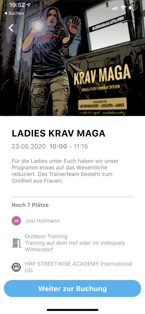 no excuse app streetwise academy Krav Maga berlin