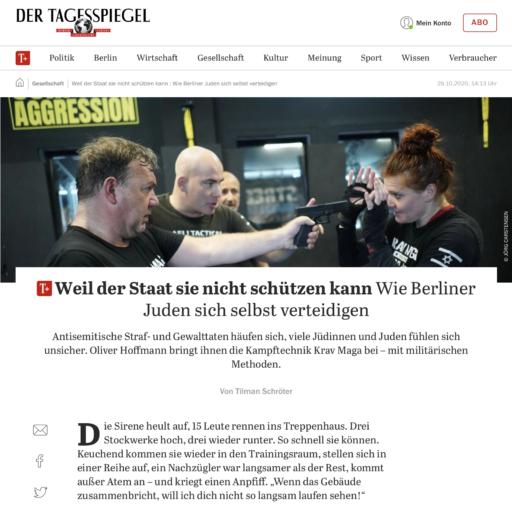 Tagesspiegel Berlin Streetwise Academy Krav Maga Oliver Hoffmann