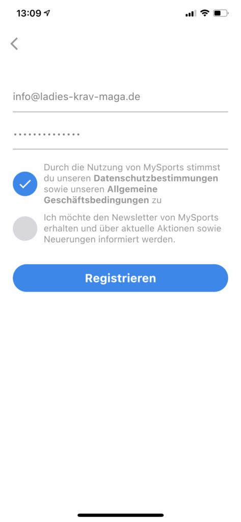 mysports app streetwise academy registration Krav Maga berlin